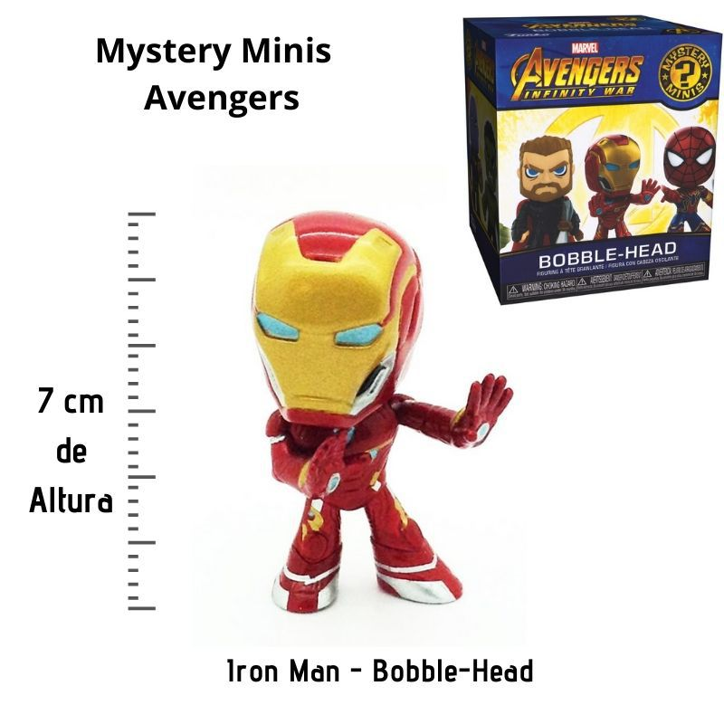 Funko Mini Mystery  Iron Man Avengers Marvel  - Game Land Brinquedos