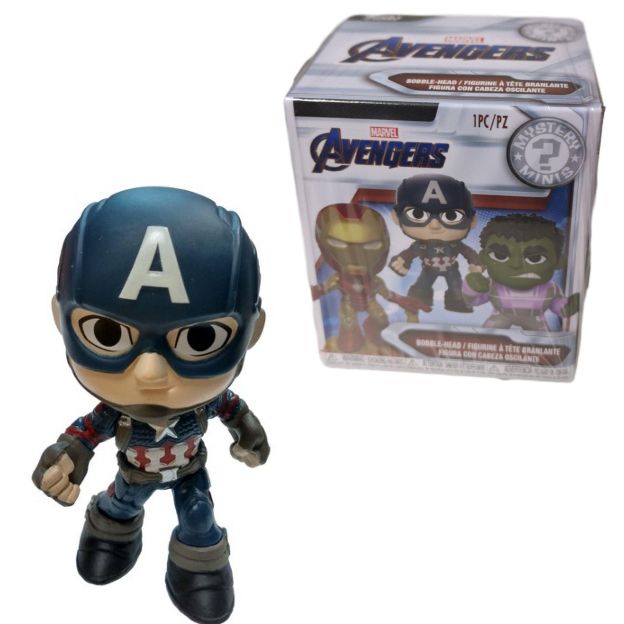 Funko Mini Mystery Marvel Avengers Capitão America Bobble-Head   - Game Land Brinquedos