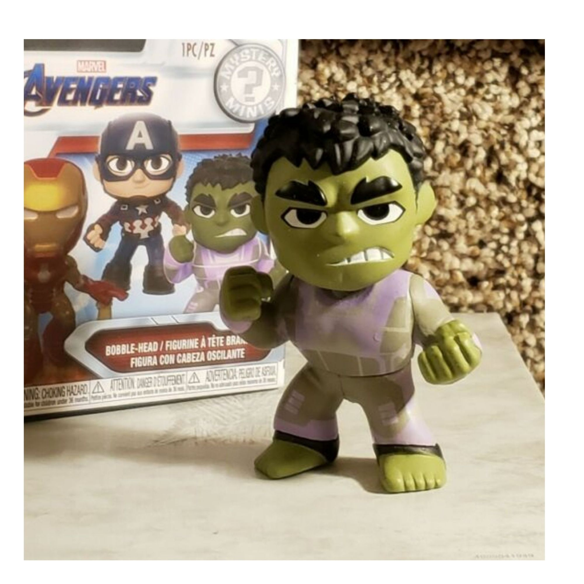 Funko Mini Mystery Marvel Avengers Hulk bobble-head  - Game Land Brinquedos