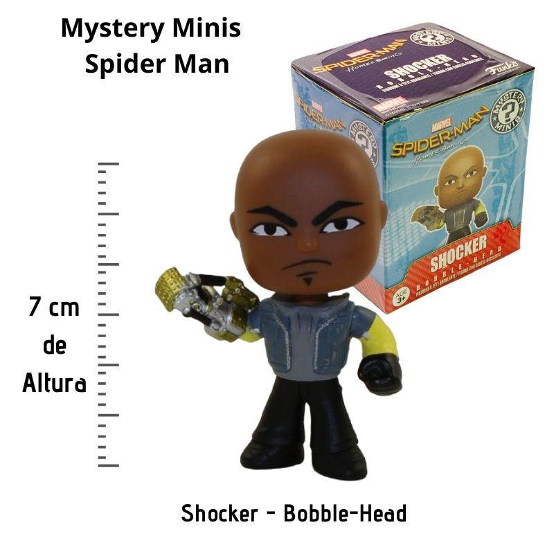 Funko Mini Mystery Spiderman Shocker Bobble-Head  - Game Land Brinquedos