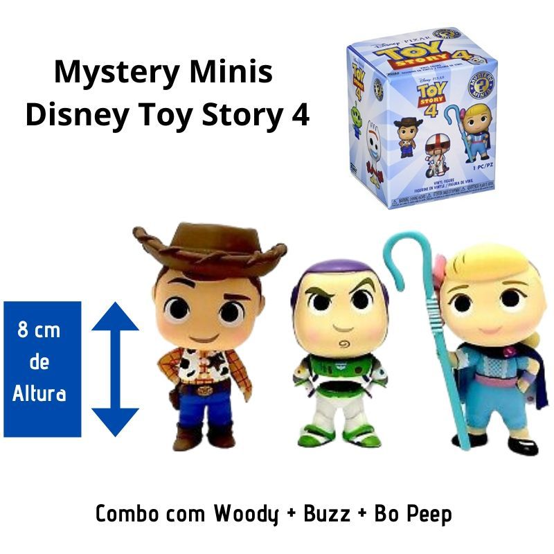Funko Mini Mystery  Toy Story Combo Buzz + Woody + Bo Peep  - Game Land Brinquedos