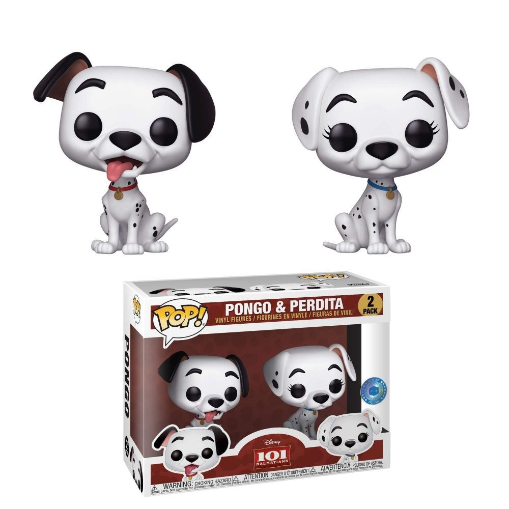 Funko Pop 2 Pack Dalmatas Pongo e Perdita Disney Exclusivo  - Game Land Brinquedos