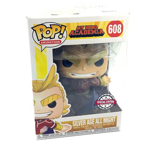 Funko Pop All Might Metalico Silver Age My Hero Academia #608 - Game Land Brinquedos