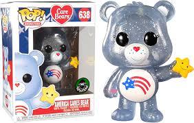Funko Pop America Cares Bear Exclusivo Funkoshop Popcultcha Ursinhos Carinhosos  - Game Land Brinquedos