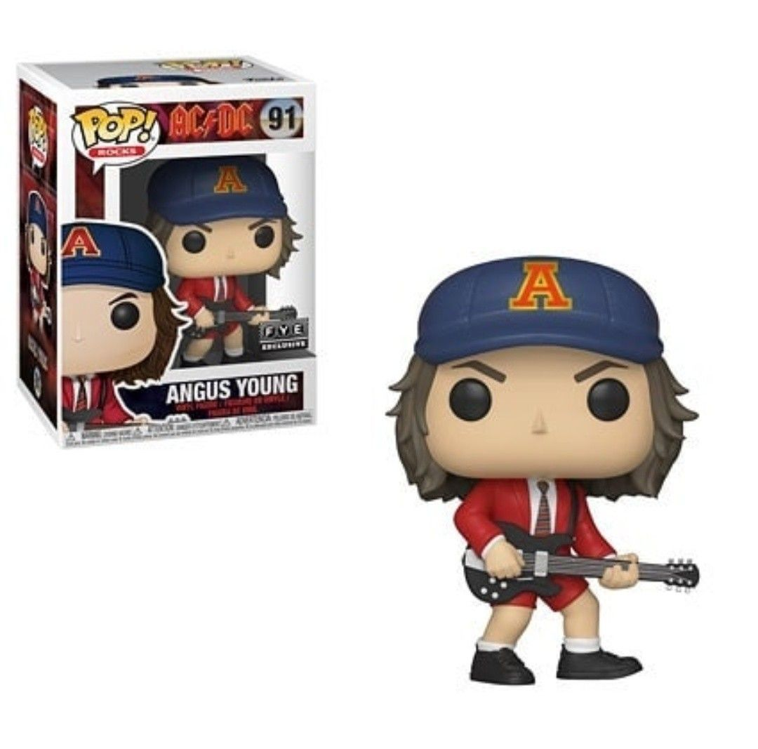 Funko Pop Angus Young ACDC Exclusivo FYE  - Game Land Brinquedos