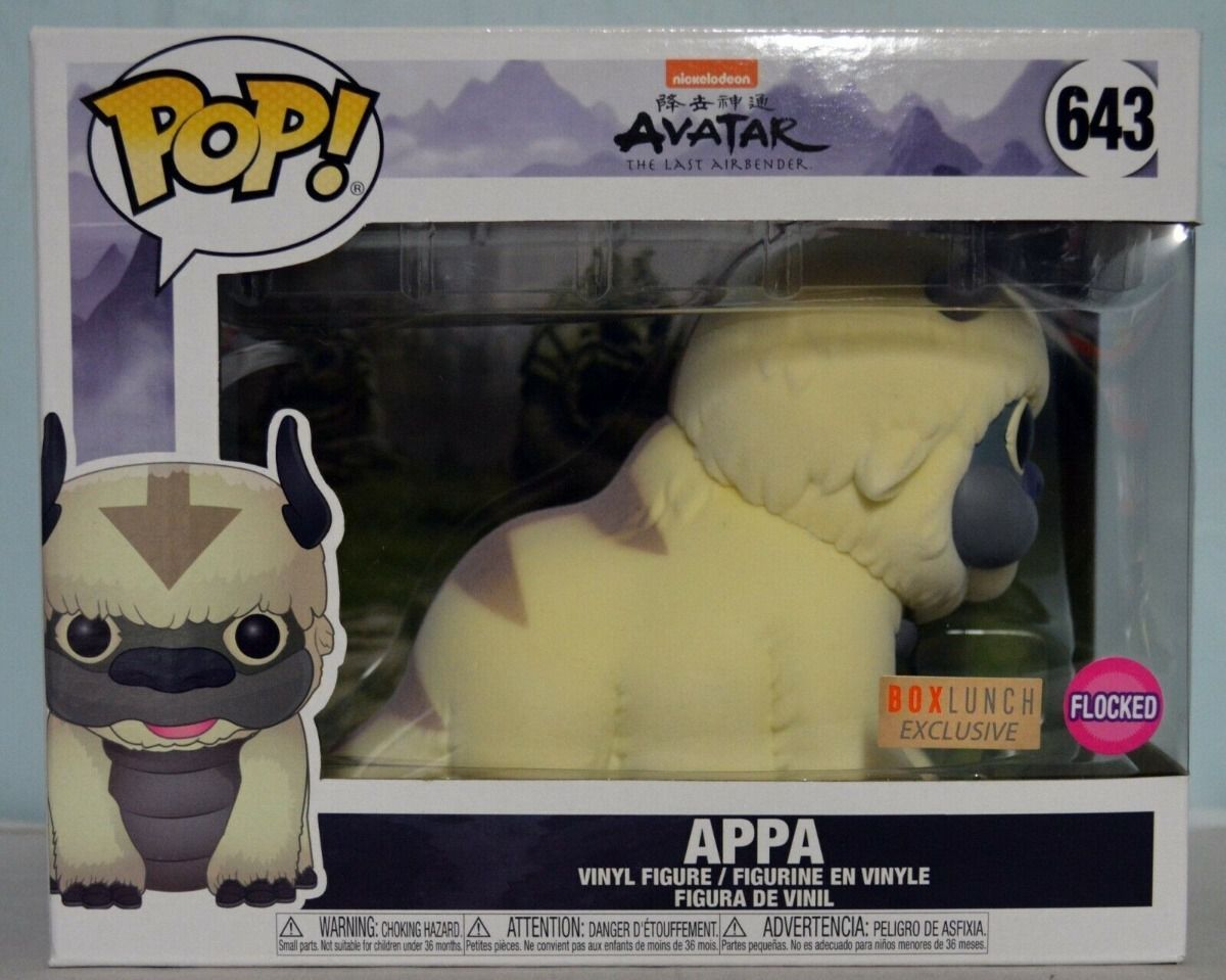 Funko Pop Appa Avatar Super Sized Exclusivo Boxlunch Flocked  - Game Land Brinquedos