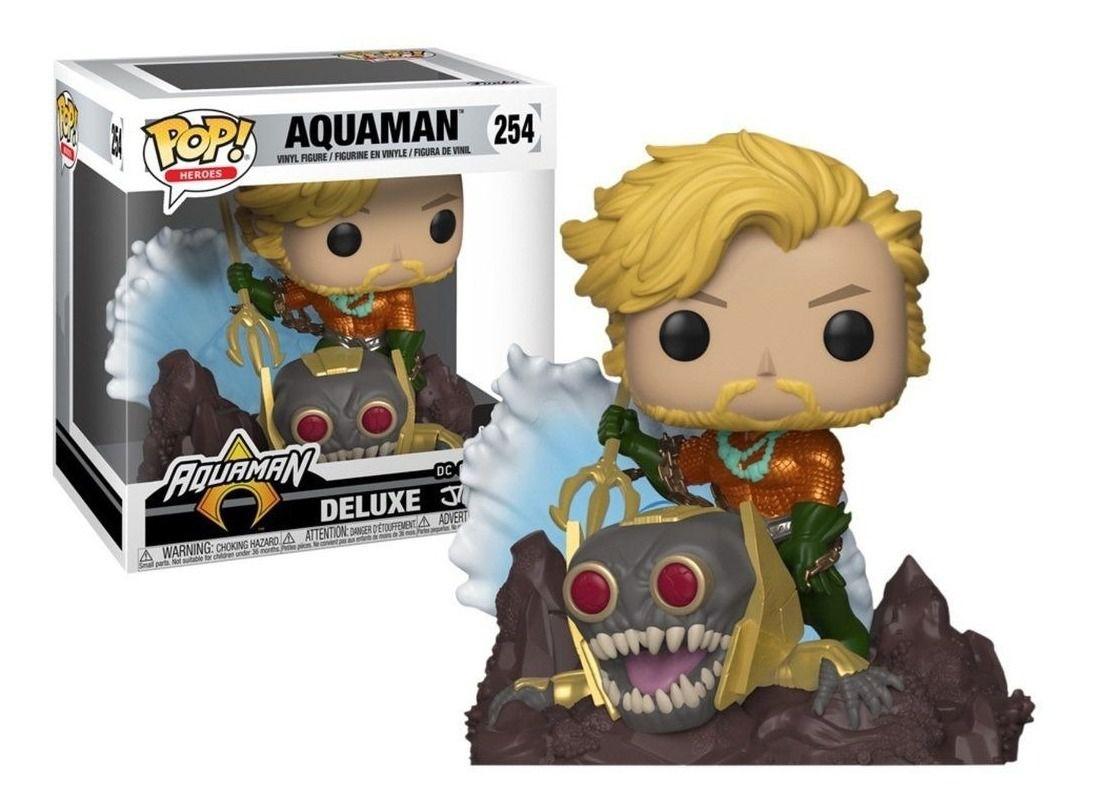 Funko Pop Aquaman DC Coleção Jim Lee De Luxe Exclusivo Gamestop  - Game Land Brinquedos