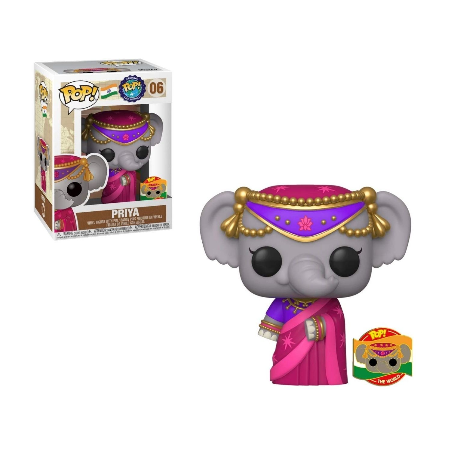Funko Pop Around The World Priya #06   - Game Land Brinquedos
