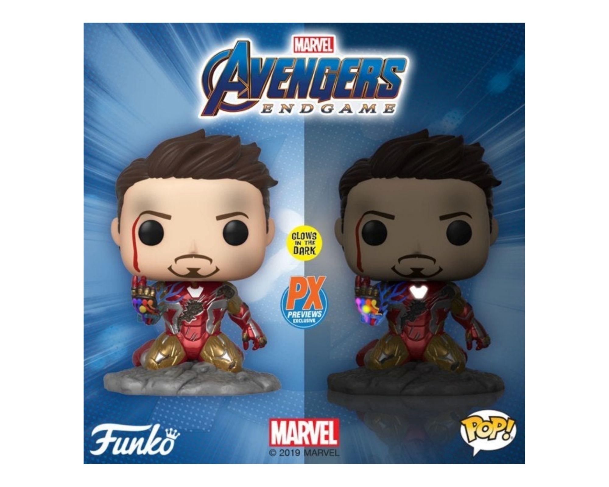 Funko Pop! Avengers Endgame: I Am Iron Man Glow-in-The-Dark Deluxe Vinyl Figure  - Game Land Brinquedos