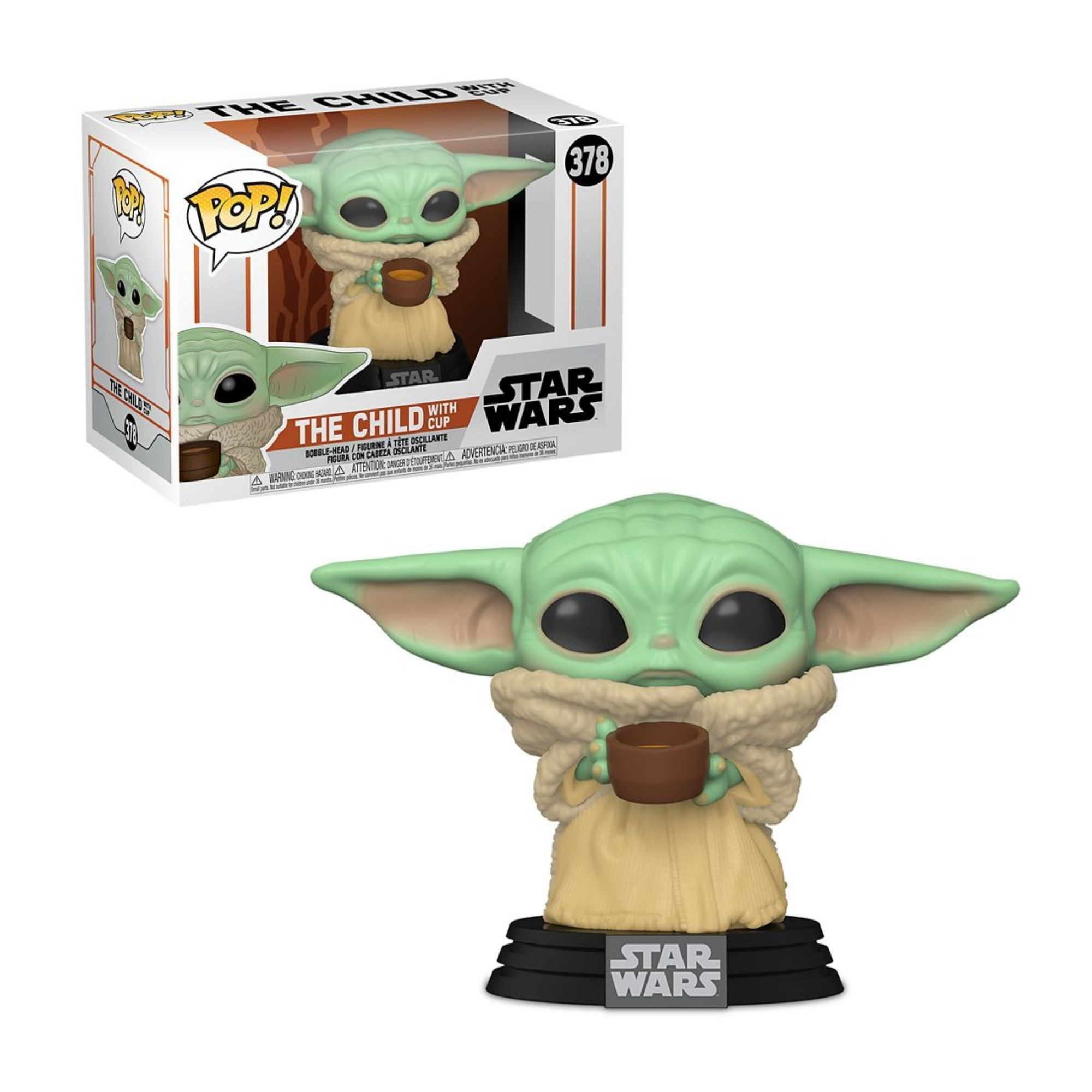 Funko Pop Baby Yoda with cup Star Wars The Child The Mandalorian  - Game Land Brinquedos