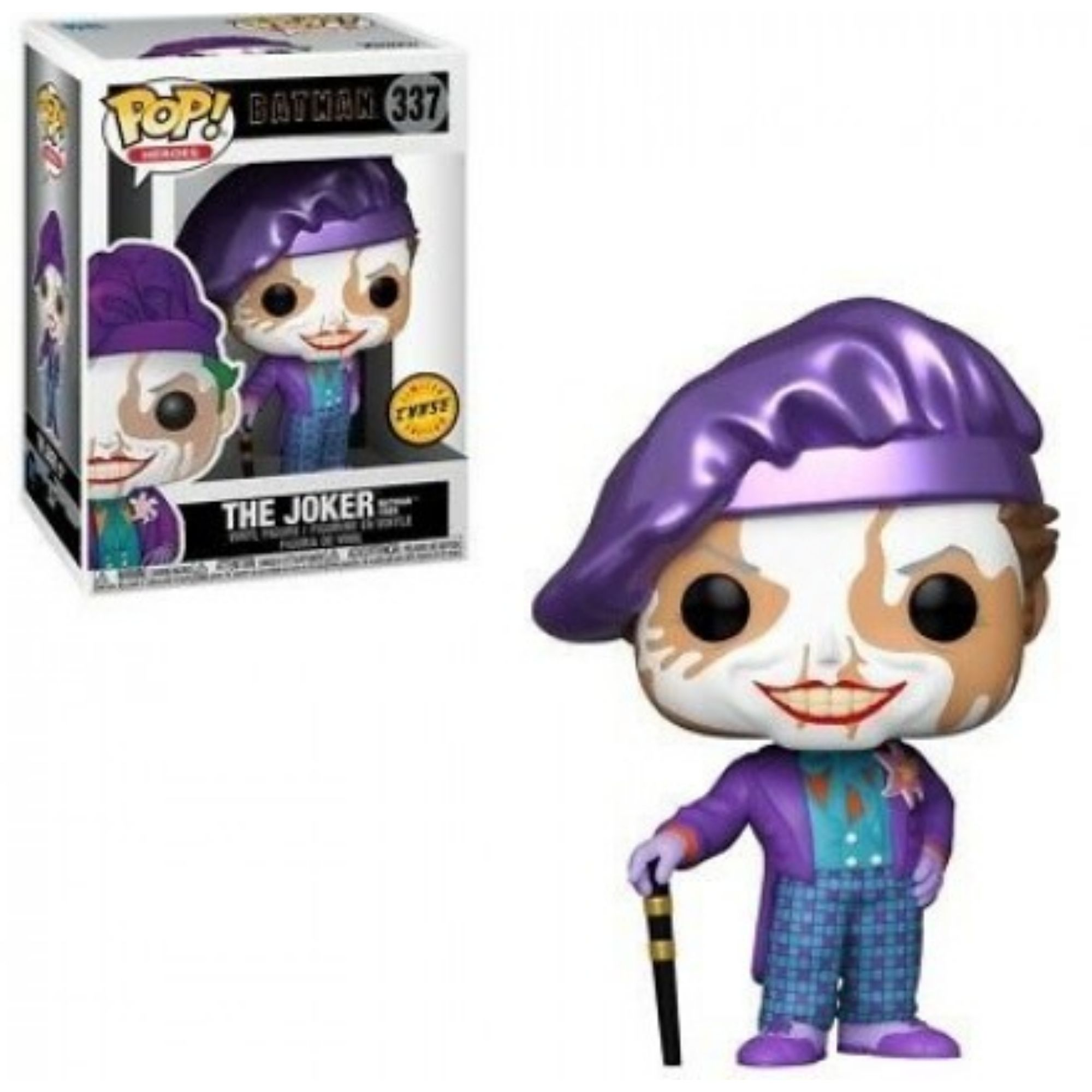 Funko Pop Batman Coringa The Joker 1989 #337 Chase  - Game Land Brinquedos
