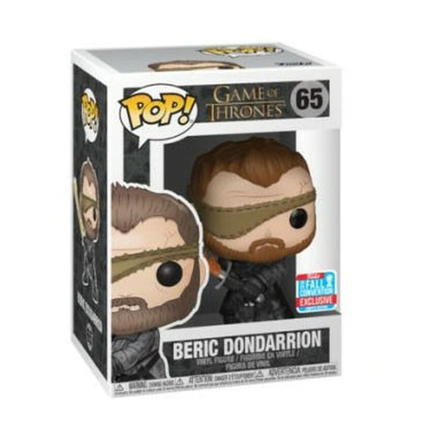 Funko Pop Beric Dondarrion #65 Game of Thrones NYCC 2018  - Game Land Brinquedos