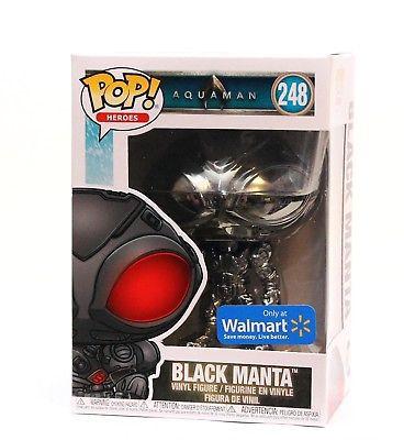 Funko Pop Black Manta Aquaman Exclusivo Cromado  - Game Land Brinquedos