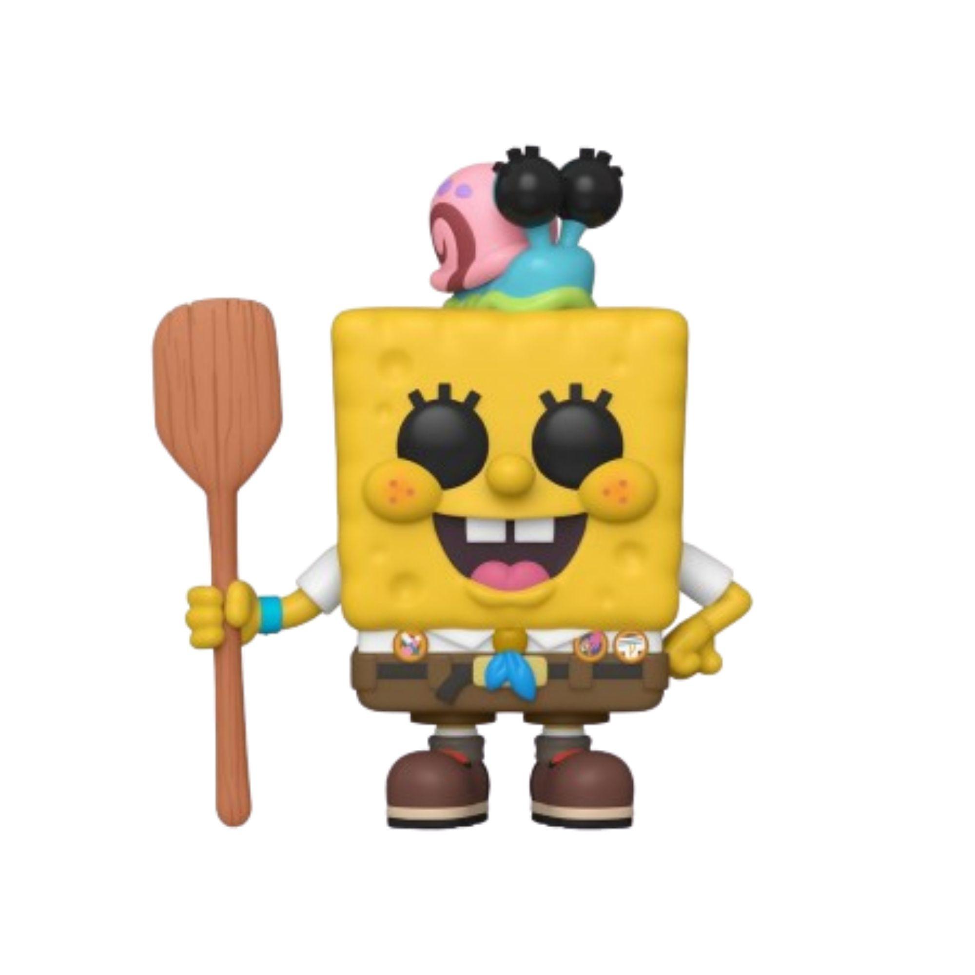 Funko Pop Bob Esponja com Gary  #916 Spongebob  - Game Land Brinquedos