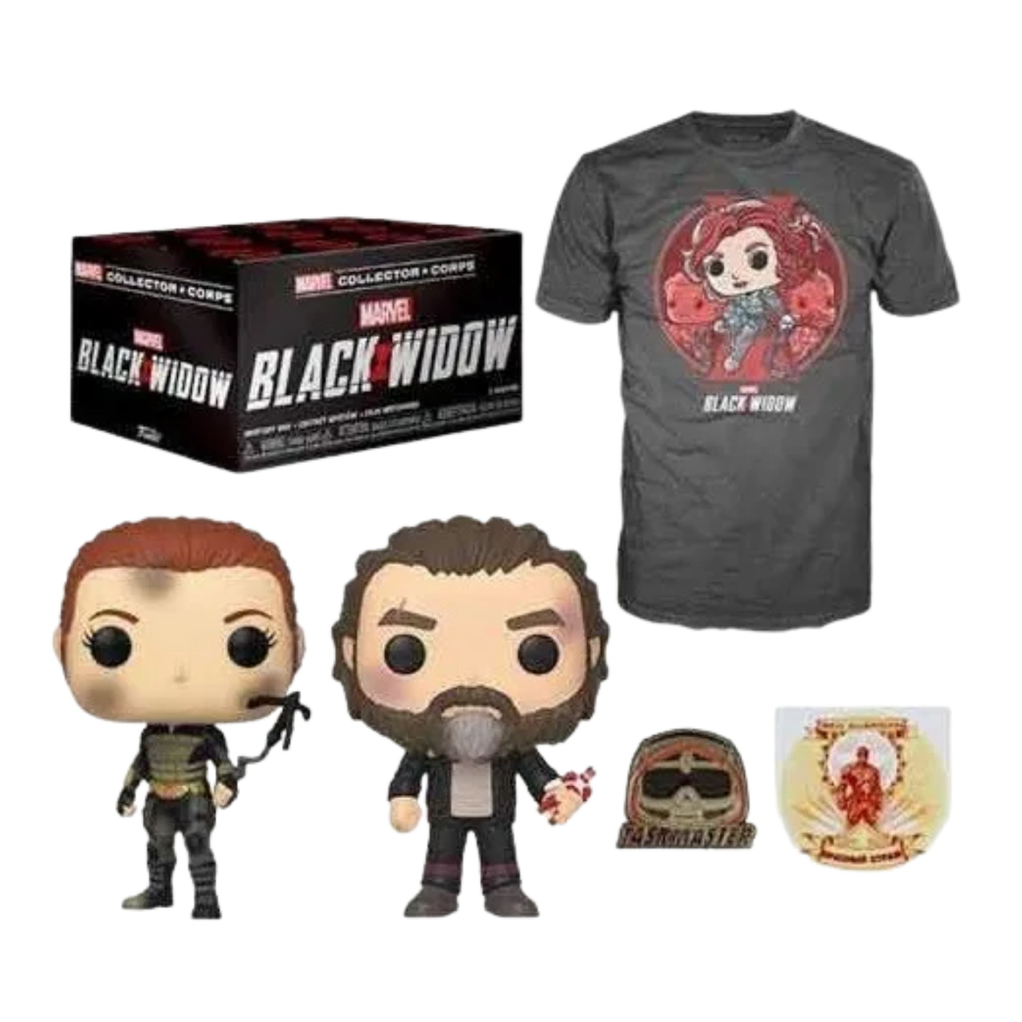 Funko Pop Box Marvel Collector Corps Black Widow   - Game Land Brinquedos