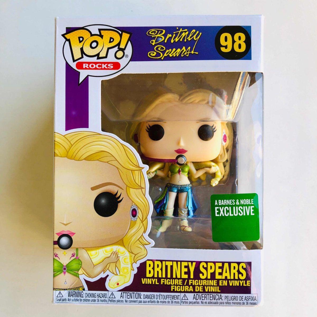 Funko Pop Britney Spears Pintura Metálica Eclusiva Barnes Noble  - Game Land Brinquedos