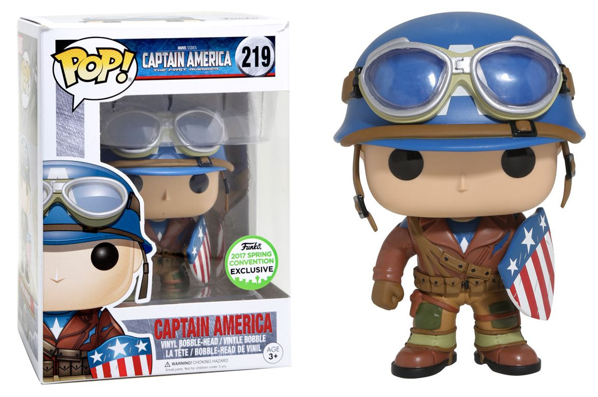 Funko Pop Capitão America SDCC 2017 Exclusivo - Marvel  - Game Land Brinquedos