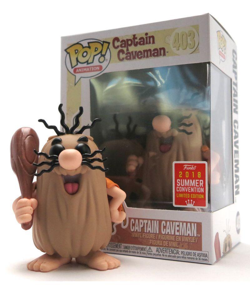 Funko Pop Capitão Caverna Hanna Barbera Exclusivo SDCC 2018  - Game Land Brinquedos