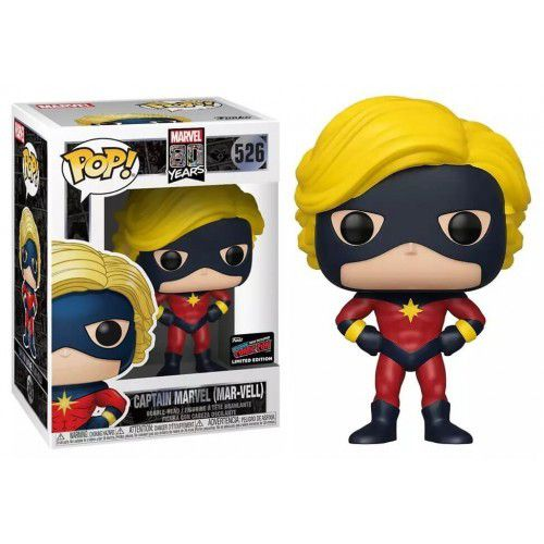Funko Pop Captain Marvel Mar-Vell Exclusivo NYCC 526  - Game Land Brinquedos