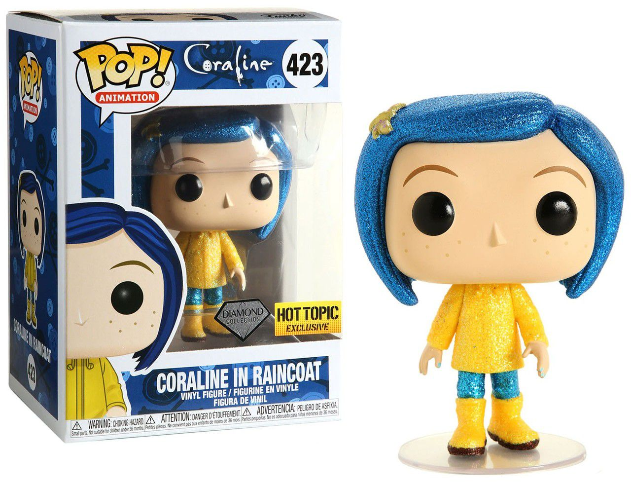 Funko pop Coraline in  Raincoat Diamond Hot Topic  - Game Land Brinquedos