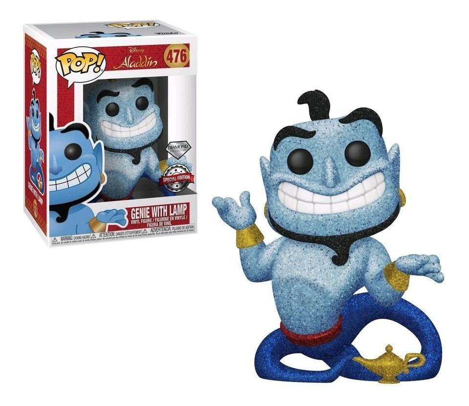Funko Pop Disney Aladdin Genio da Lampada Diamond Exclusivo 476  - Game Land Brinquedos