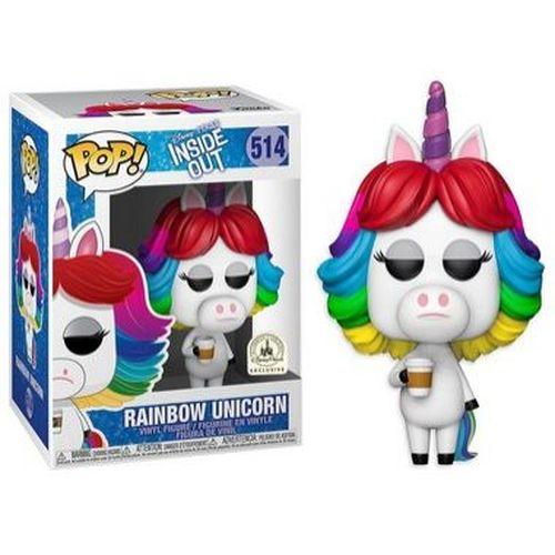 Funko Pop Disney Divertidamente Rainbow Unicorn #514 Inside Out  - Game Land Brinquedos