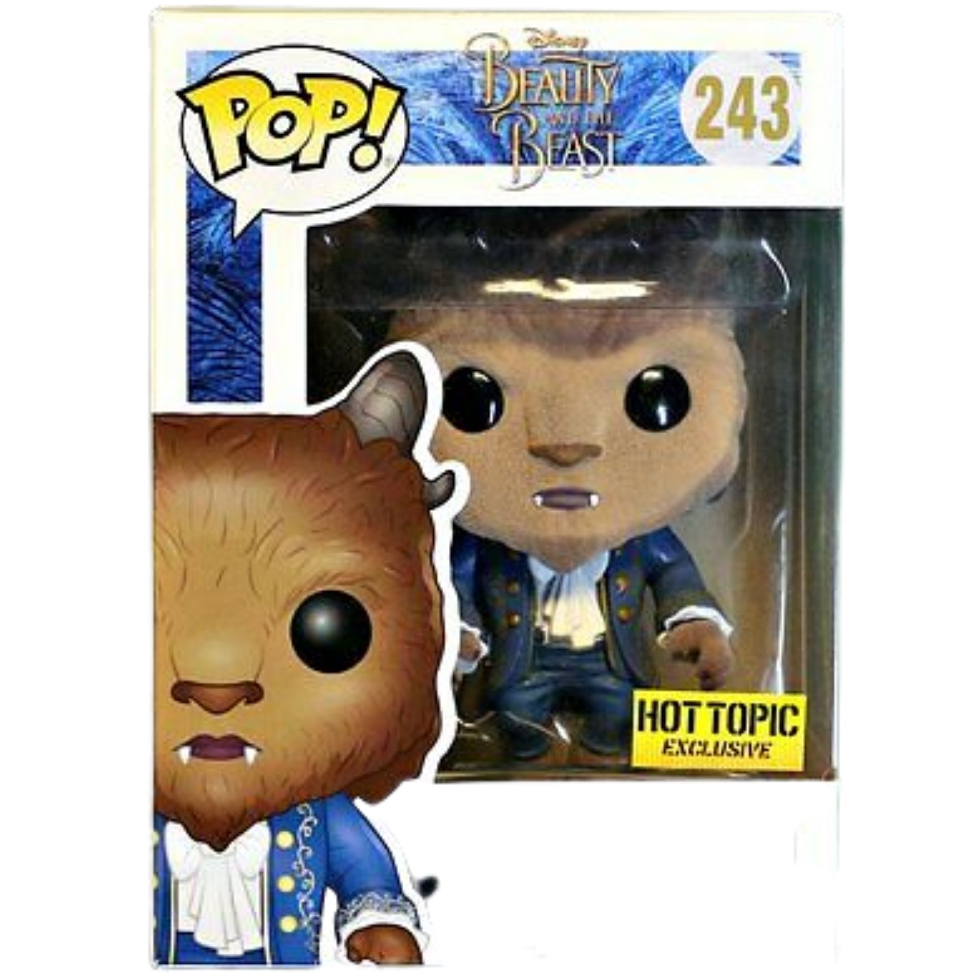 Funko Pop Disney Fera Bela e a Fera Flocada #243  - Game Land Brinquedos
