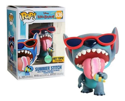 Funko Pop Disney Lilo E Stitch Summer Stitch Hot Topic #636  - Game Land Brinquedos