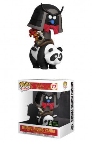 Funko Pop Disney Mulan Mushu Ridding Panda ECCC 2020 77  - Game Land Brinquedos