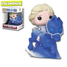 Funko Pop Disney Rides Fronze 2 Elsa riding Nokk 74  - Game Land Brinquedos
