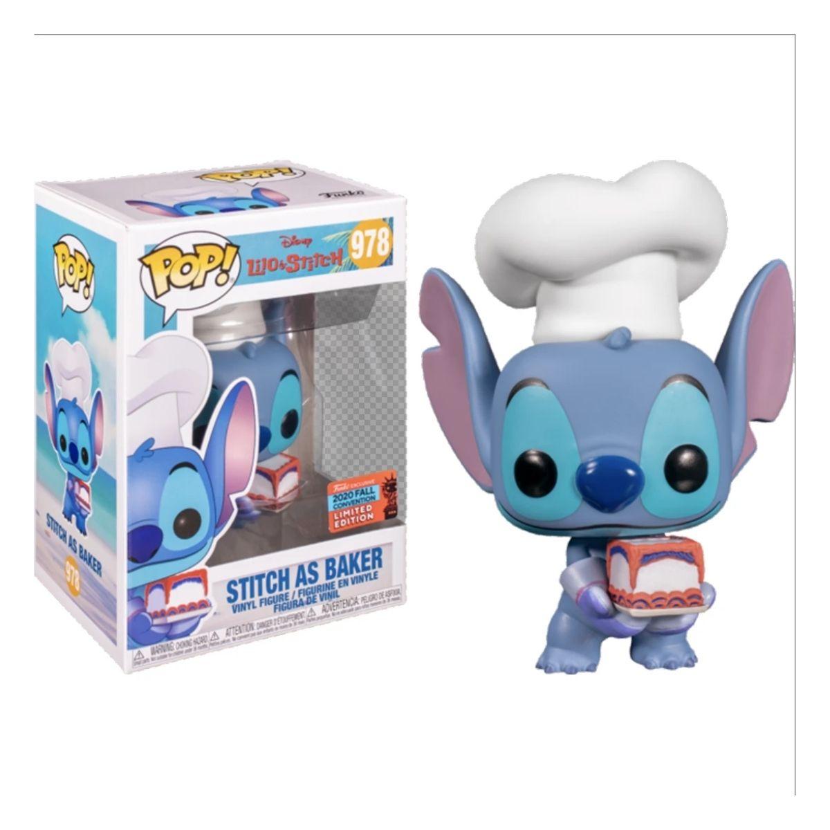 Funko Pop Disney Stitch As Baker Lilo & Stitch #978 Sdcc  - Game Land Brinquedos
