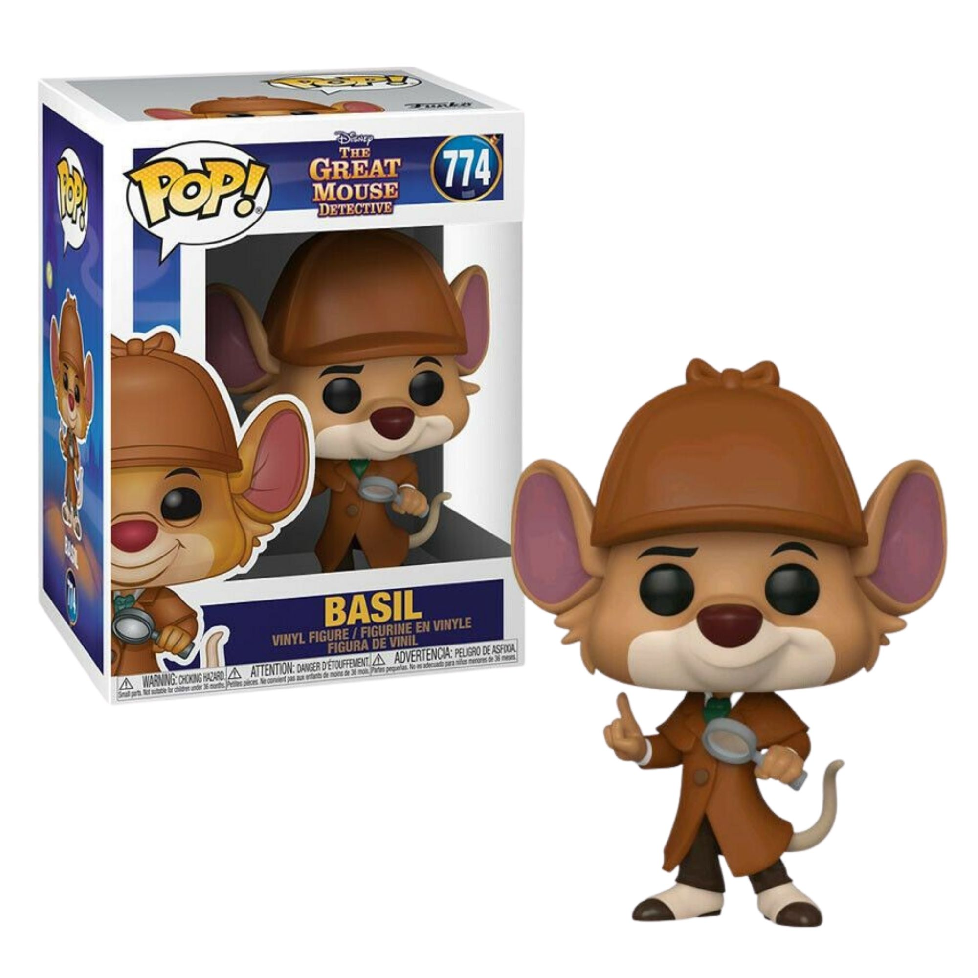 Funko Pop Disney The Great Mouse Detective Basil #774  - Game Land Brinquedos