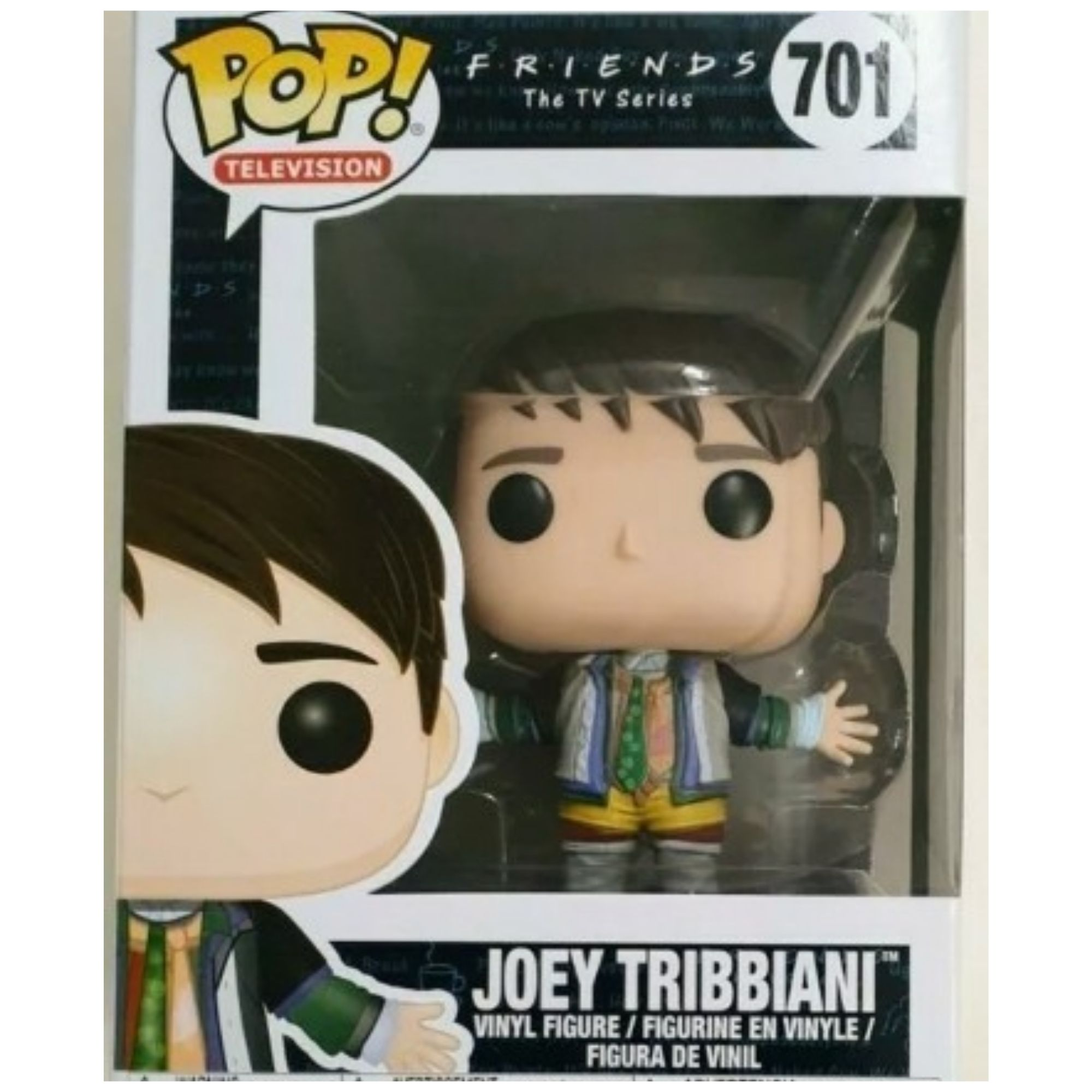 Funko Pop Friends Joey Tribbiani #701  - Game Land Brinquedos