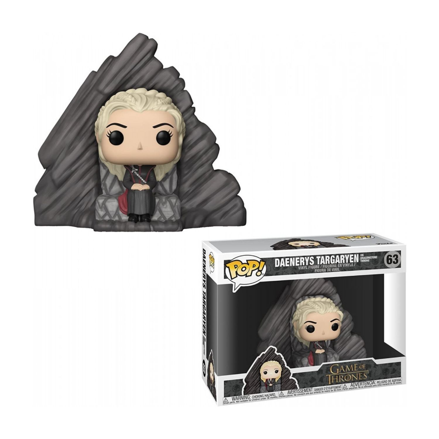 Funko Pop Game Of Thrones Daenerys On Dragonstone Throne #63  - Game Land Brinquedos