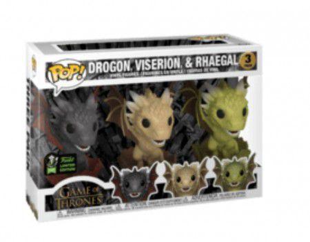 Funko Pop Game Of Thrones Drogon Viserion & Rhaegal Comic 2020  - Game Land Brinquedos