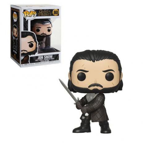 Funko Pop Game Of Thrones Jon Snow 80 - Game Land Brinquedos