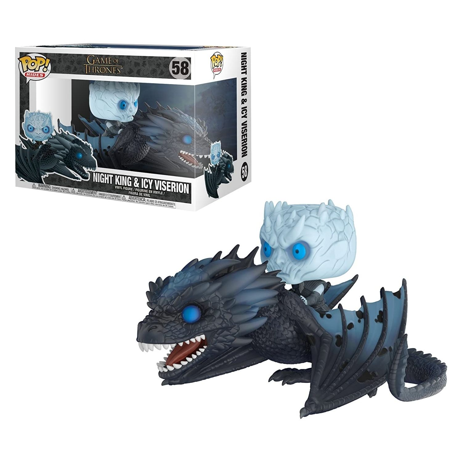 Funko Pop Game Of Thrones Night King & Icy Viserion #58  - Game Land Brinquedos
