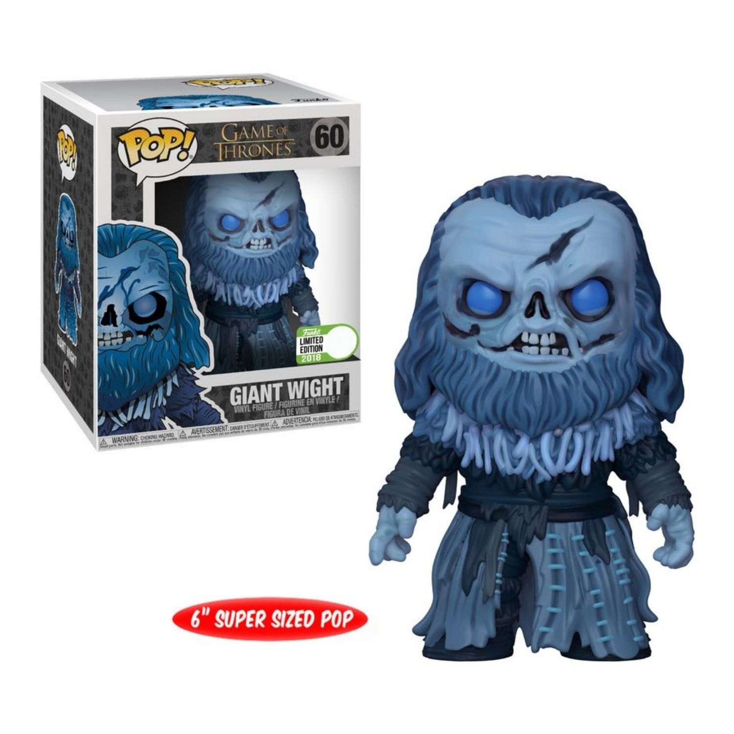 Funko Pop Giant Wight #60 Game Of Thrones  - Game Land Brinquedos