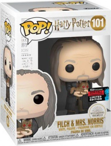 Funko Pop! Harry Potter Nycc 2019 - Filch & Mrs Norris #101  - Game Land Brinquedos
