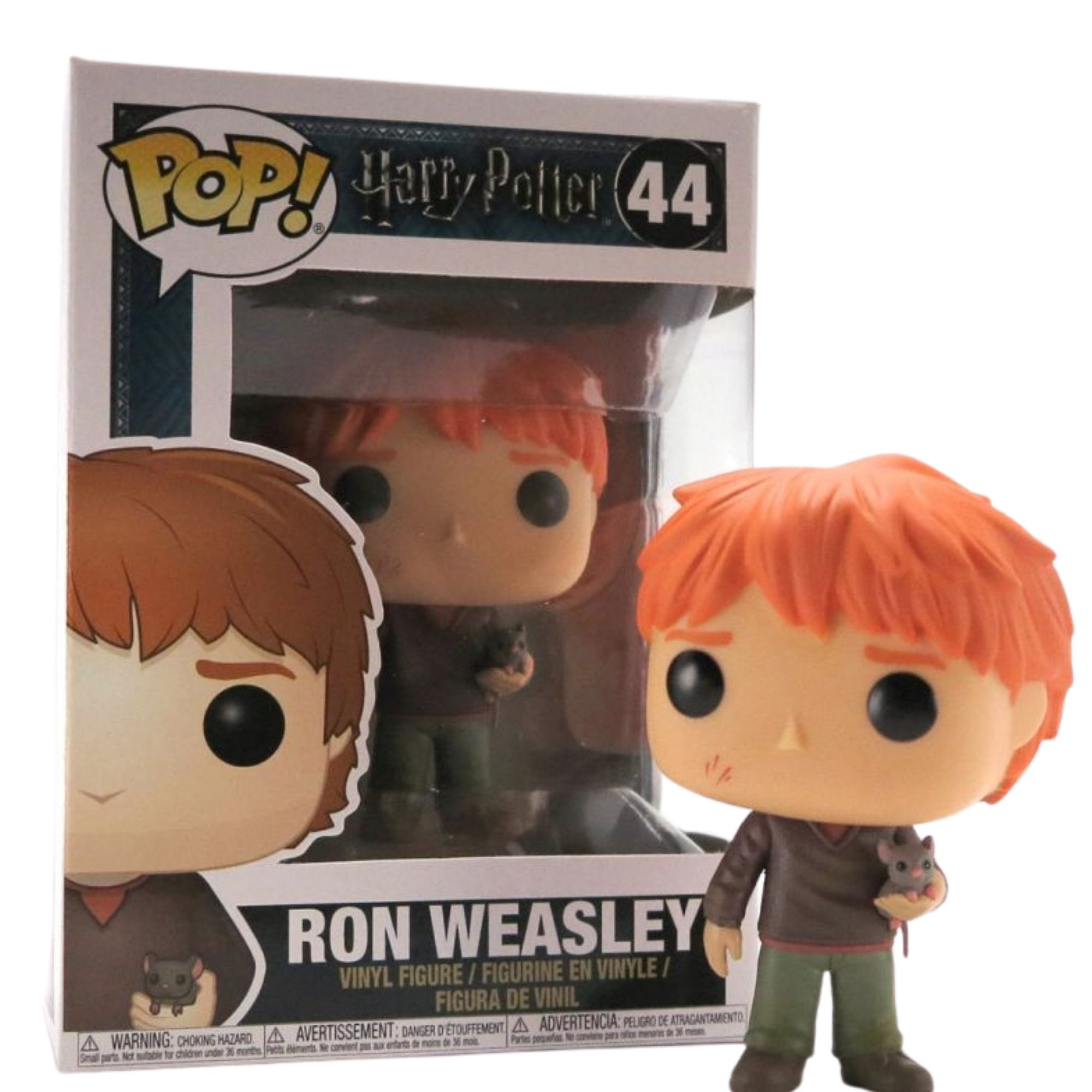 Funko Pop Harry Potter Ron Weasley com Scabbers  #44  - Game Land Brinquedos
