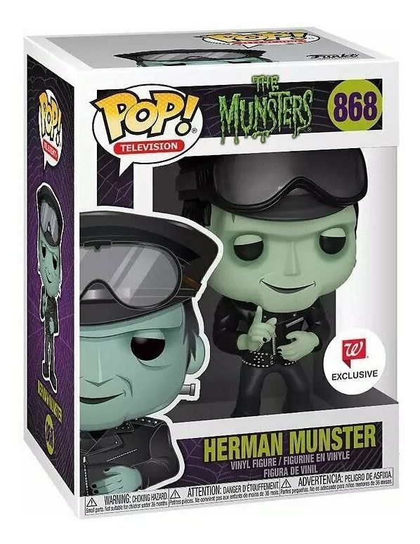 Funko Pop Herman Munster Exclusivo Walgreens The Munsters 868  - Game Land Brinquedos