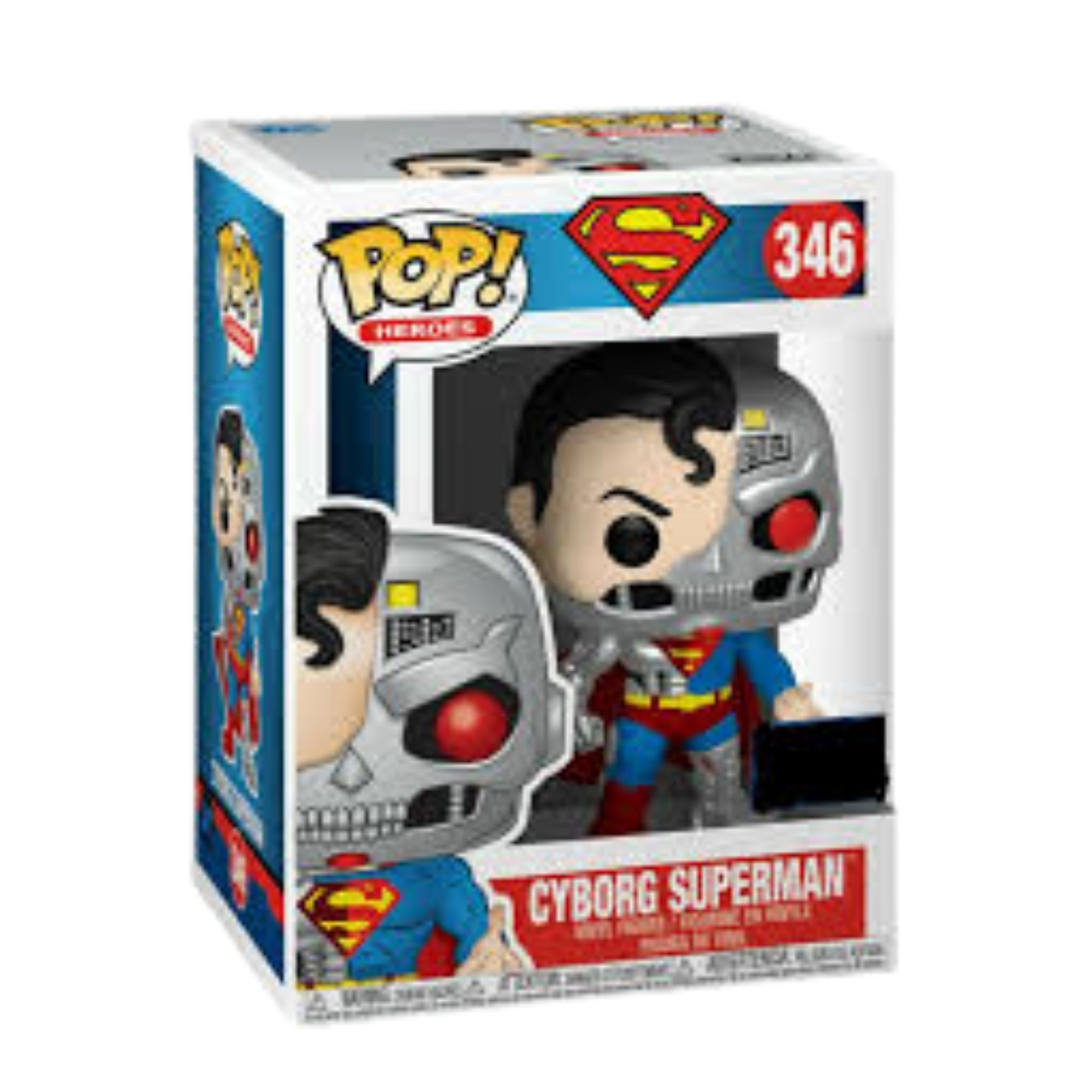 Funko Pop Heroes Cyborg Superman #346 Sdcc 2020  - Game Land Brinquedos