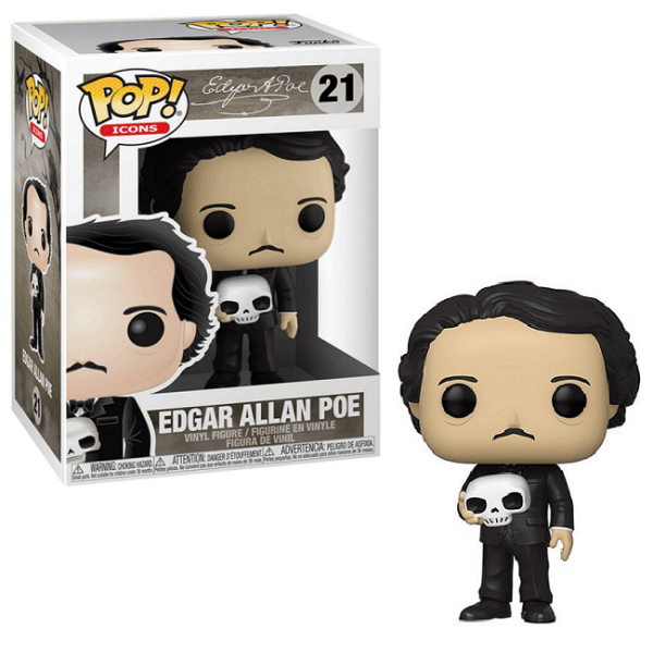 Funko Pop Icons Edgar Allan Poe 21  - Game Land Brinquedos