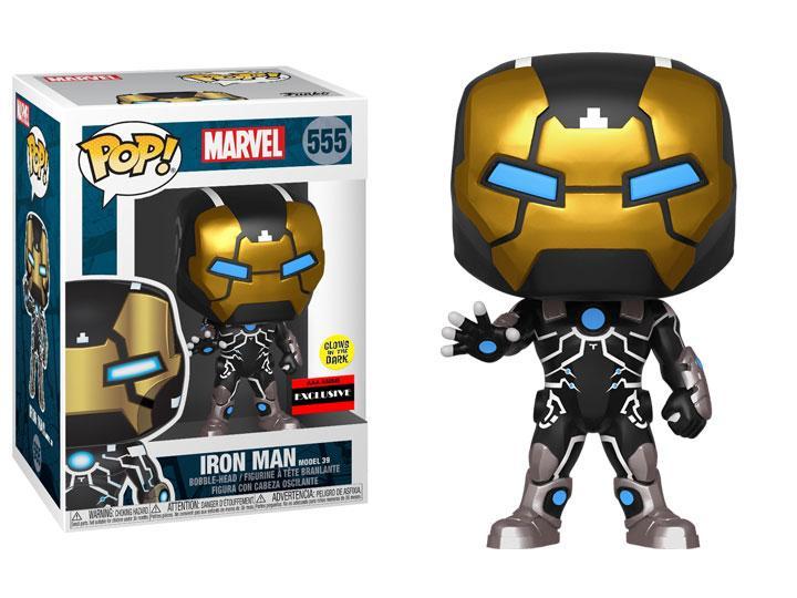 Funko Pop Iron Man Marvel Model 39 555 GITD Exclusivo AAA Anime  - Game Land Brinquedos