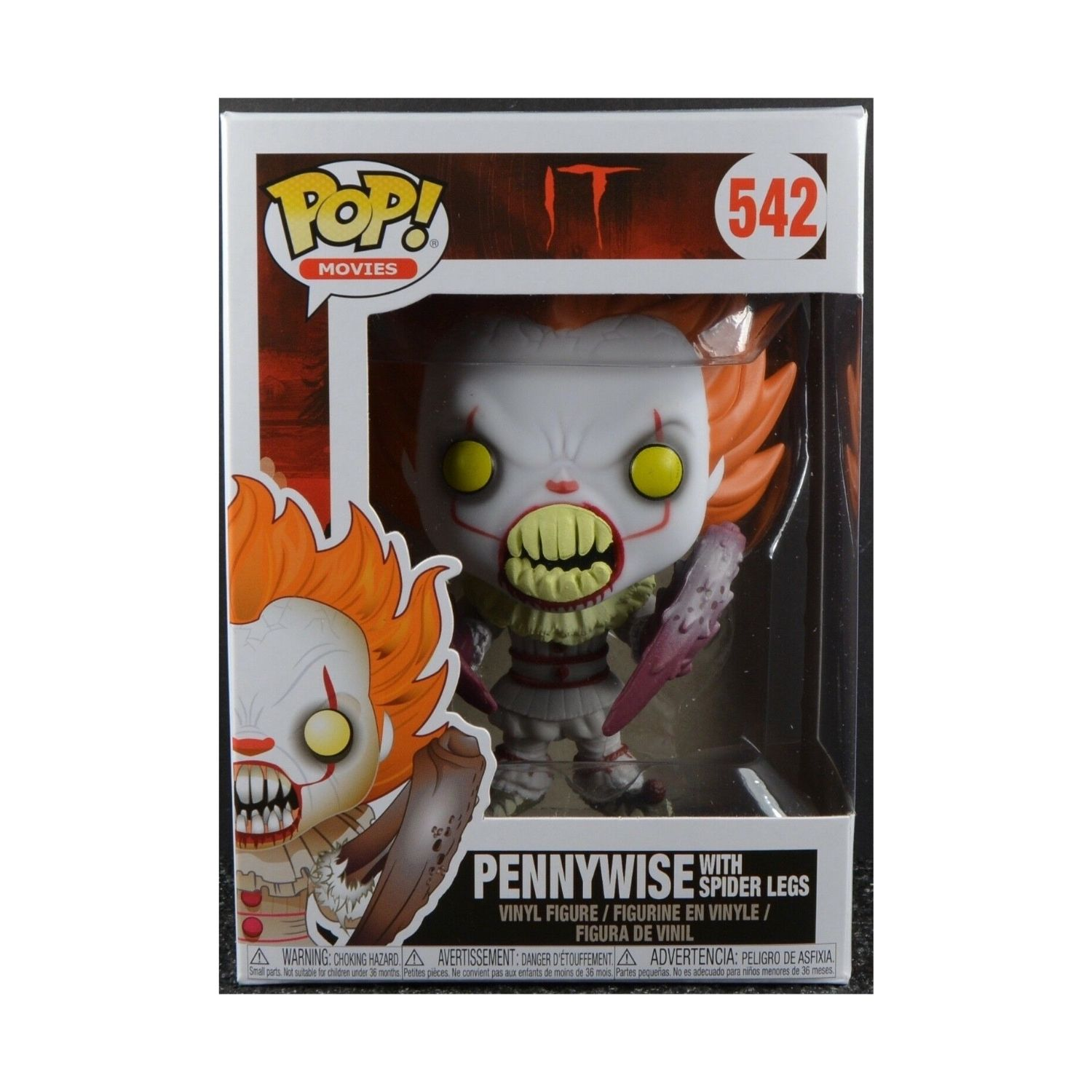 Funko Pop IT Pennywise With Spider Legs #542  - Game Land Brinquedos
