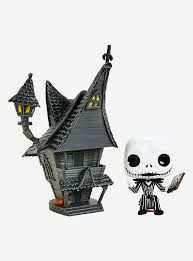 Funko Pop Jack Skellington e Jacks House Pop  Town Casa do Jack Nightmare   - Game Land Brinquedos