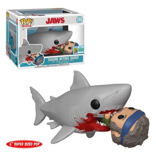 Funko Pop Jaws Tubarão Shark Biting Quint Exclusivo SDCC 2019  - Game Land Brinquedos