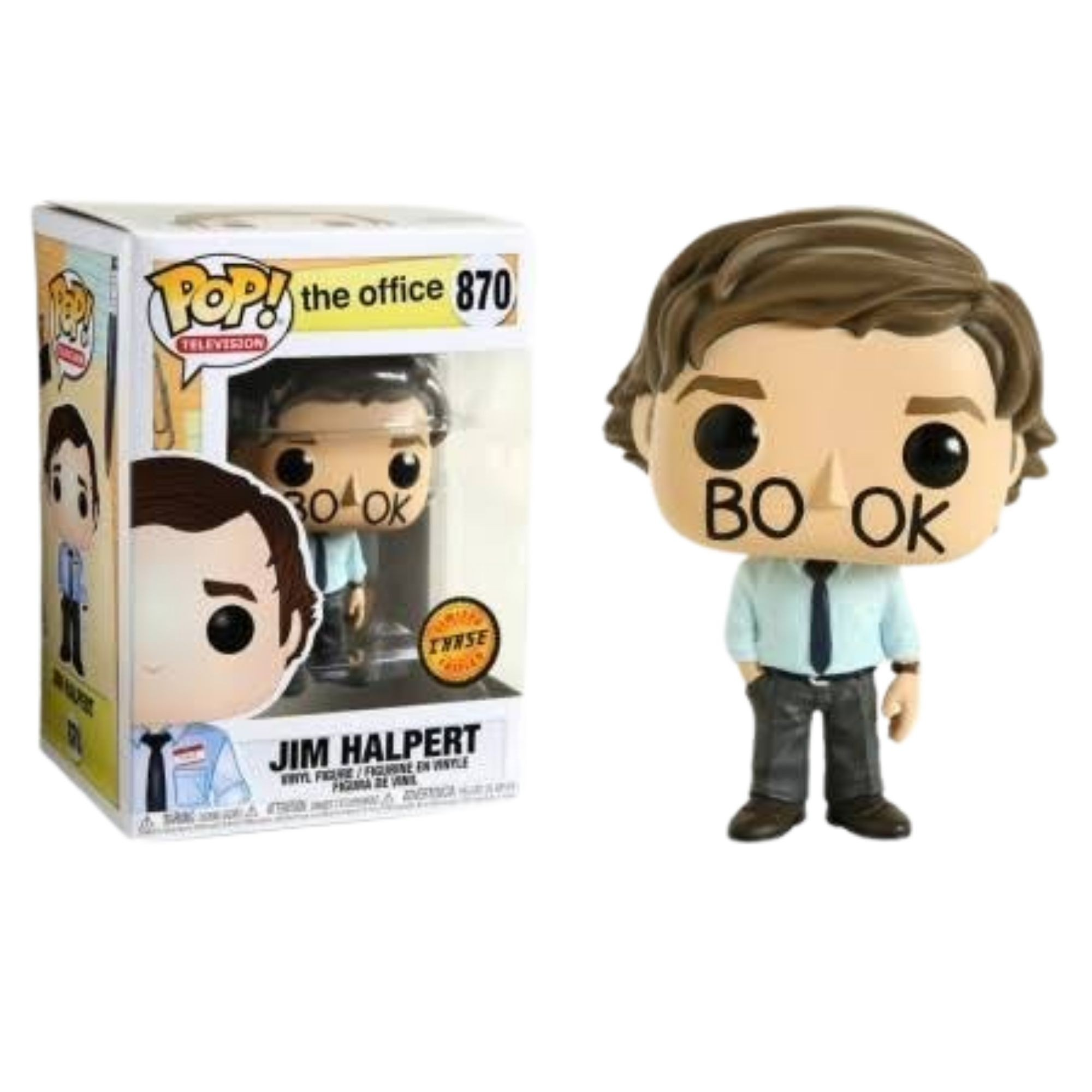 Funko Pop Jim Halpert The Office #870 Chase  - Game Land Brinquedos