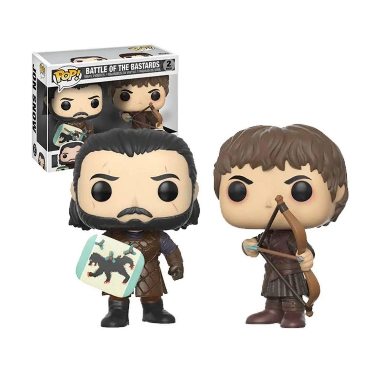 Funko Pop Jon Snow & Ramsay Battle Of Bastards Game Of Thrones  - Game Land Brinquedos