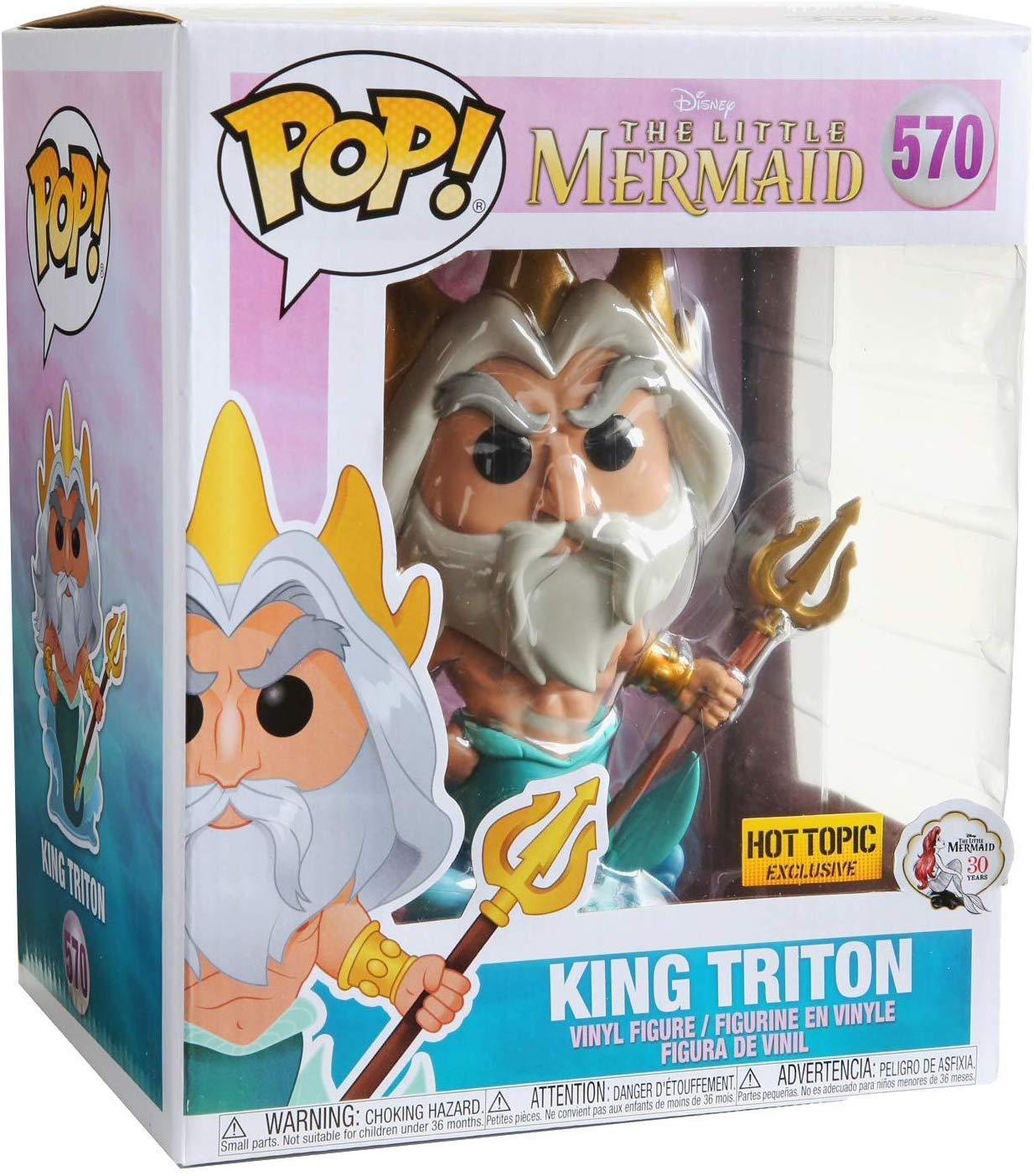 Funko Pop King Triton Pequena Sereia  Rei Tritão Disney Exclusivo  - Game Land Brinquedos